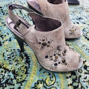 Gorgeous studded peep toe booties DKNY 10